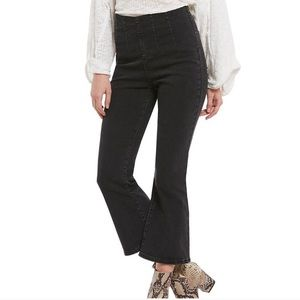 Free People Ultra High Pull On Crop Boot Jeans 26